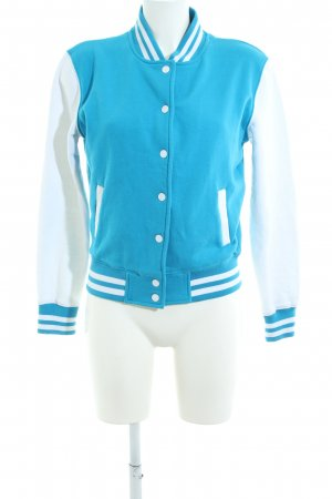 Urban Classics Collegejacke blau-weiß Streifenmuster Casual-Look