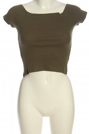 Urban Classics Cropped Shirt khaki Casual-Look