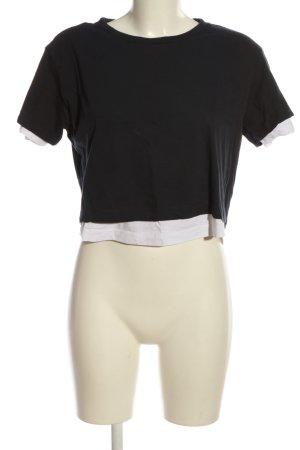 Urban Classics Cropped Shirt black-white casual look