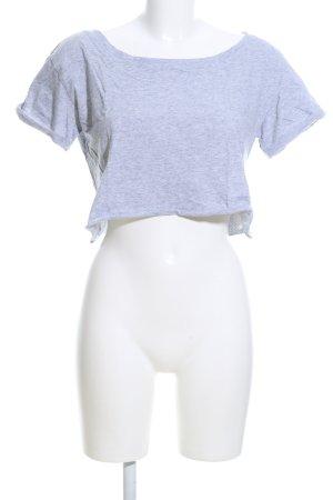 Urban Classics Cropped Shirt hellgrau meliert Casual-Look