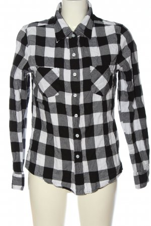 Urban Classics Flannel Shirt black-white check pattern casual look