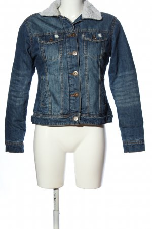 Urban Classics Jeansjacke blau Casual-Look