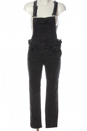 Urban Classics Bib Denim black-silver-colored casual look
