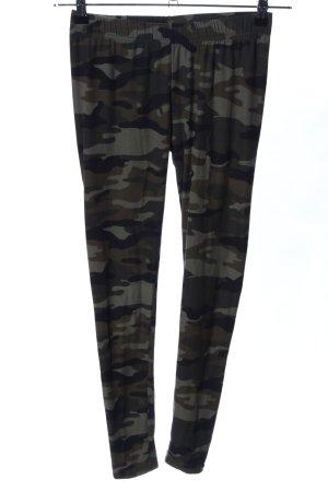 Urban Classics Leggings khaki-braun Camouflagemuster Casual-Look