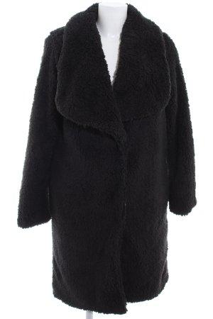 Urban Classics Manteau de fourrure noir style décontracté