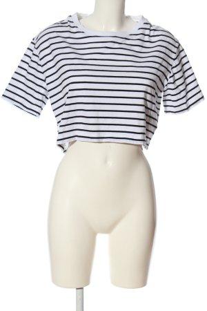 Urban Classics Cropped Shirt weiß-schwarz Allover-Druck Casual-Look