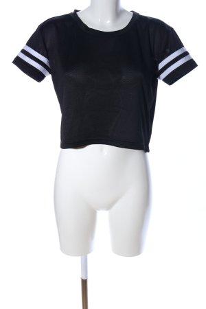 Urban Classics T-shirt de sport noir motif rayé style décontracté