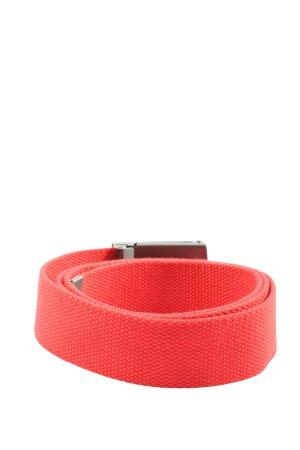 Urban Classics Cinturón de tela rojo look casual