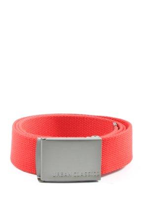 Urban Classics Cintura in tessuto rosso stile casual