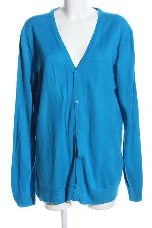 Urban Classics Strick Cardigan blau Casual-Look