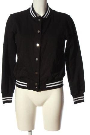 Urban Classics Sweatshirt schwarz-weiß Streifenmuster Casual-Look