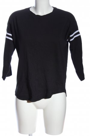Urban Classics T-Shirt schwarz Streifenmuster Casual-Look