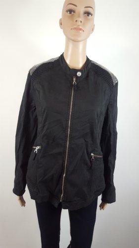 Biker Jacket black-silver-colored