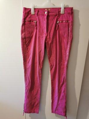 Urban Diva Mirja du Mont Damen Bikerhose Stoffhose Pailetten pink Größe 42