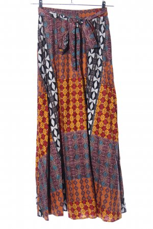 Maxi rok abstract patroon casual uitstraling