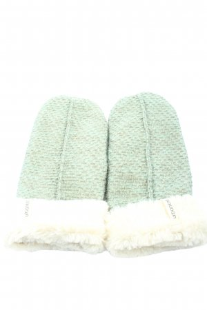 urban knit Gloves green-cream casual look