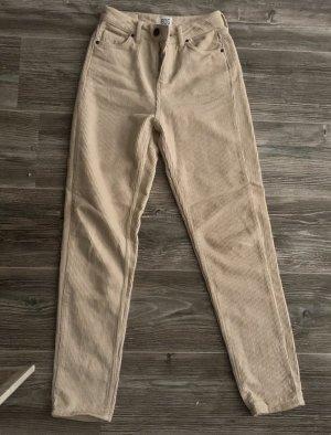 Urban Outfitters Corduroy broek licht beige
