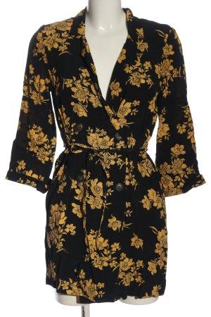 Urban Outfitters Blouse Jacket black-light orange flower pattern casual look