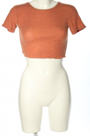 Urban Outfitters Camisa recortada naranja claro moteado look casual