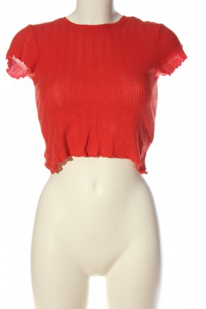 Urban Outfitters Cropped Shirt red casual look
