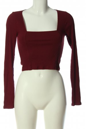 Urban Outfitters Cropped Shirt red cable stitch casual look