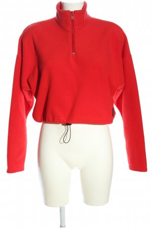 Urban Outfitters Fleecepullover rot Casual-Look