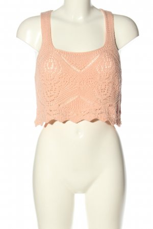 Urban Outfitters Crochet Top nude casual look