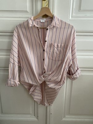 Urban Outfitters Shirt Blouse pink-steel blue