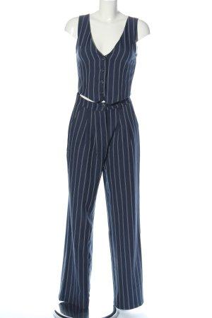 Urban Outfitters Garnitur damski niebieski-biały Wzór w paski W stylu casual