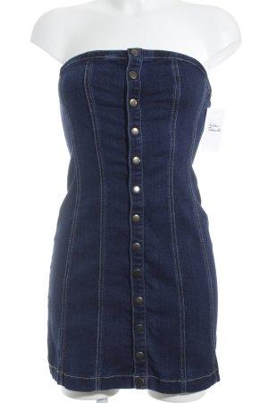 Urban Outfitters Denim Dress dark blue mixture fibre