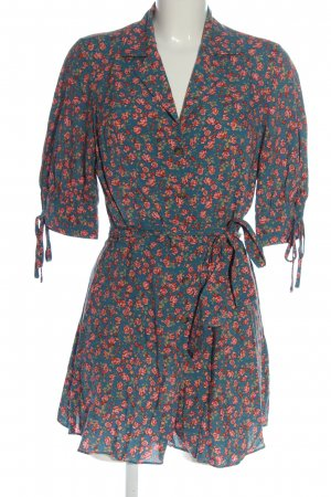 Urban Outfitters Kurzer Jumpsuit blue-red allover print casual look