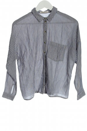 Urban Outfitters Long Sleeve Shirt light grey-white striped pattern