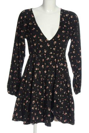 Urban Outfitters Longsleeve Dress black-light orange allover print casual look