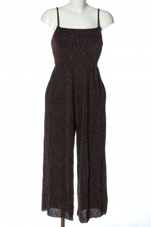 Urban Outfitters Langer Jumpsuit schwarz-rot Allover-Druck Casual-Look