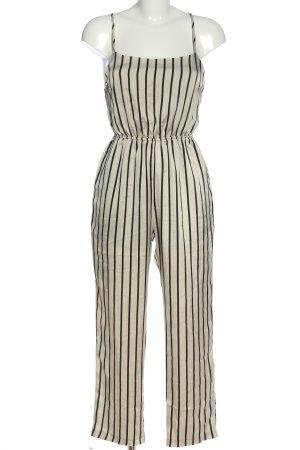 Urban Outfitters Langer Jumpsuit weiß-schwarz Allover-Druck Casual-Look