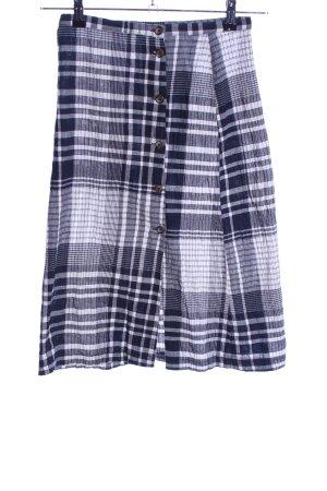 Urban Outfitters Midirock blau-hellgrau Karomuster Casual-Look