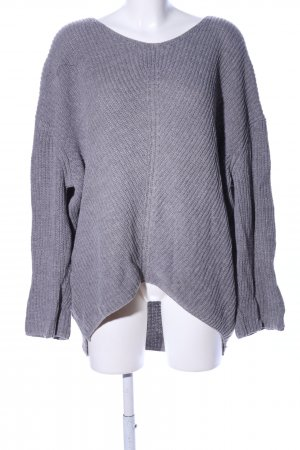 Urban Outfitters Oversized Pullover hellgrau Streifenmuster Casual-Look