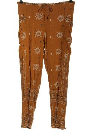 Urban Outfitters Spodnie palazzo brązowy-w kolorze białej wełny