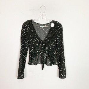Urban Outfitters Transparentna bluzka czarny-biały