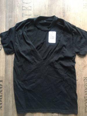 Urban Outfitters Koszulka z dekoltem w kształcie litery V czarny