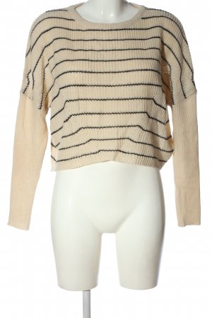 Urban Outfitters Crewneck Sweater cream striped pattern casual look