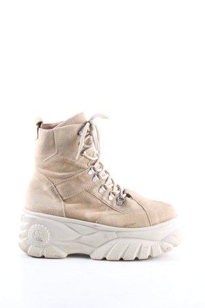 Urban Outfitters Aanrijg laarzen wolwit casual uitstraling