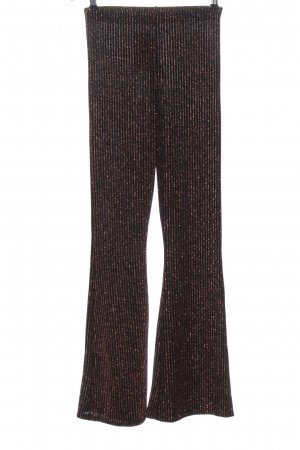 Urban Outfitters Jersey Pants black-bronze-colored striped pattern elegant