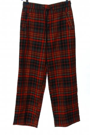 Urban Outfitters Stoffhose rot-schwarz Karomuster Casual-Look
