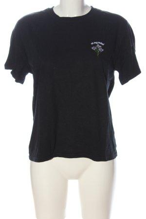 Urban Outfitters T-shirt nero caratteri ricamati stile casual