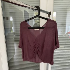 Urban Outfitters T-shirt col en V gris lilas