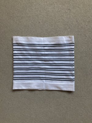 Urban Outfitters Bandeau top wit-zwart