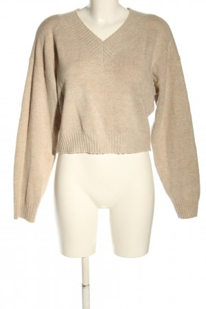Urban Outfitters V-Ausschnitt-Pullover creme Casual-Look