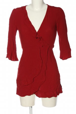 Urban Outfitters Wraparound Blouse red elegant