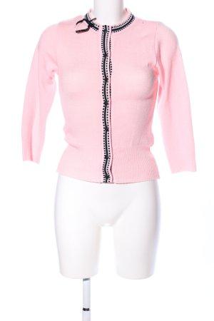 Cardigan pink-schwarz Casual-Look